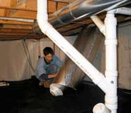 Crawl Space Insulating Blanket